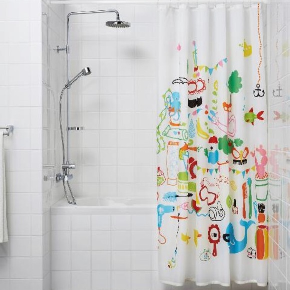 ikea badback children s shower curtain