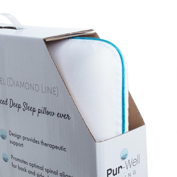 pur cool gel deep sleep comfort pillow diamond s