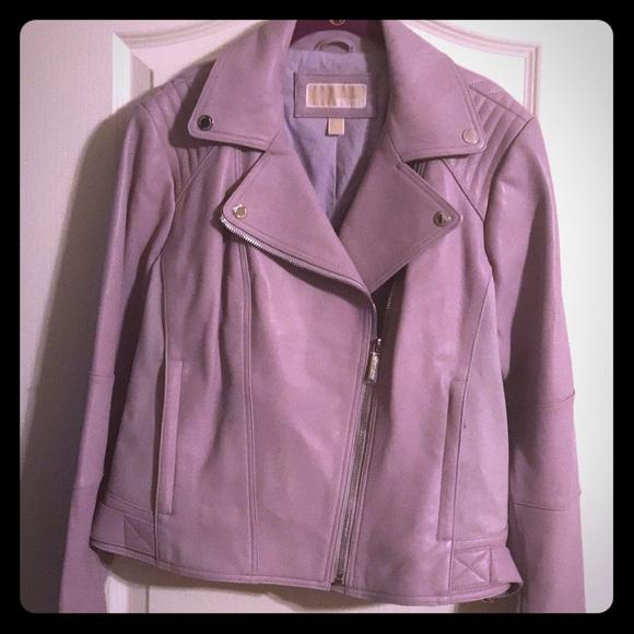 purple leather michael kors