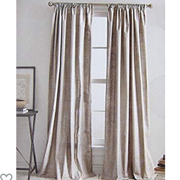 dkny set of 96 silver taupe curtain panels