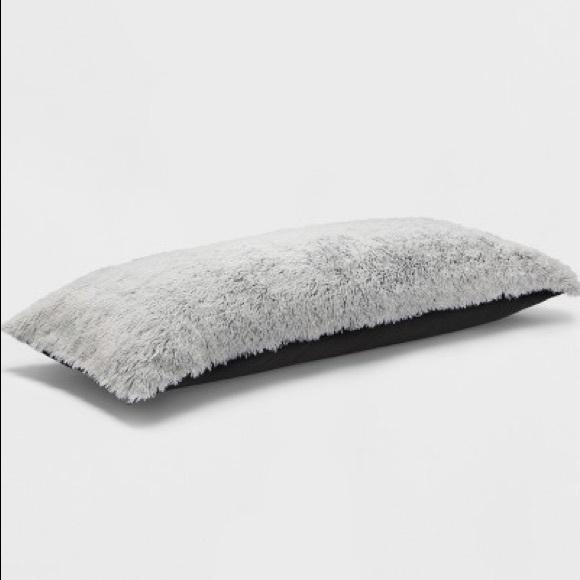 grey fur body pillow online