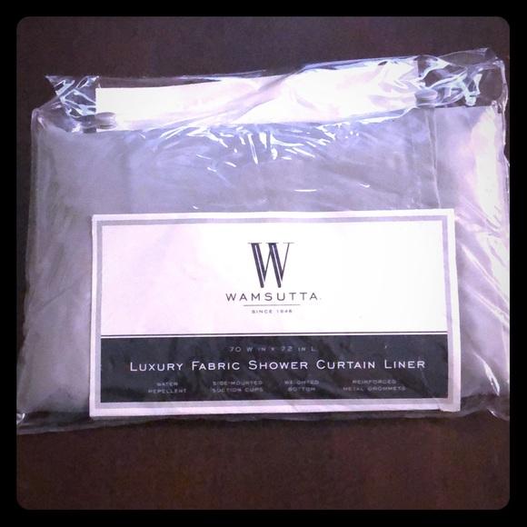 wamsutta fabric shower curtain liner