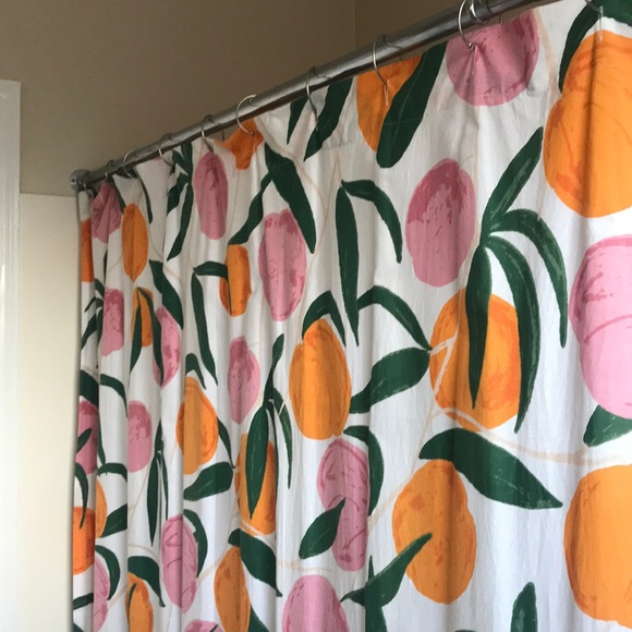 urban outfitters peach shower curtain