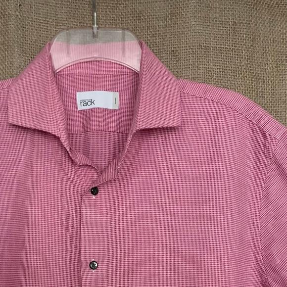 nordstrom rack men s dress shirt red white check