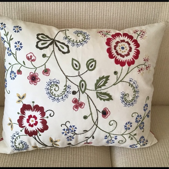 ikea alvine flora embroidered pillow and insert