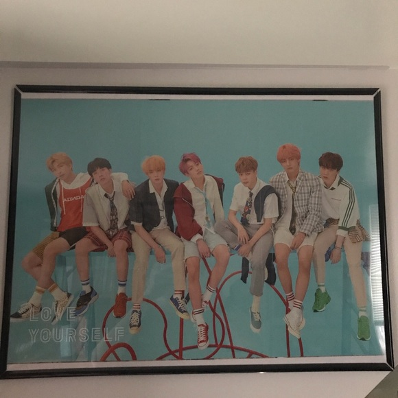 bts poster frame not included