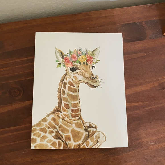 hobby lobby giraffe with floral crown painting
