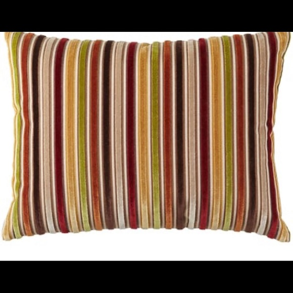 new pier 1 imports velvet striped pillows qty 6