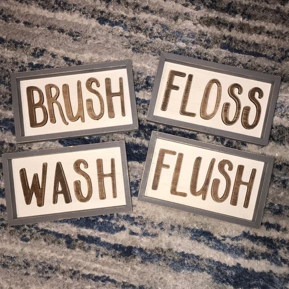 hobby lobby wood bathroom signs