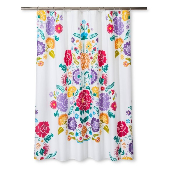 pillowfort target floral fiesta shower curtain