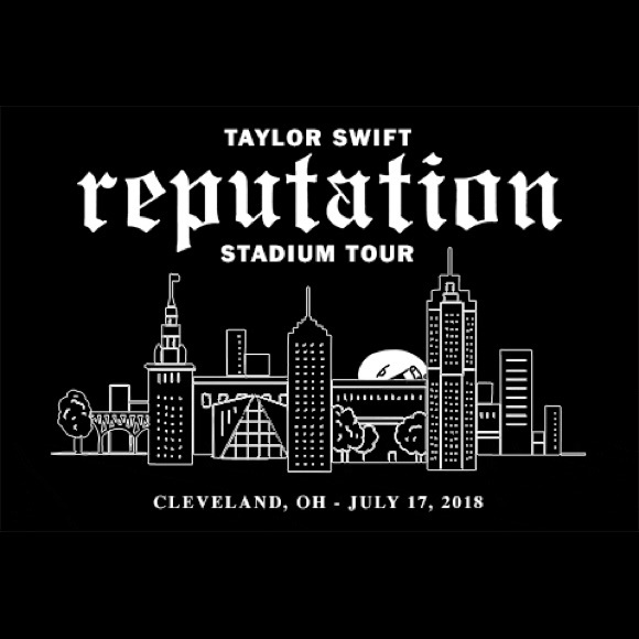 iso taylor swift cleveland reputation tour poster