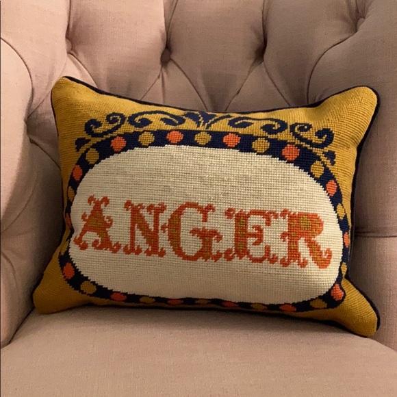 jonathan adler needlepoint anger pillow