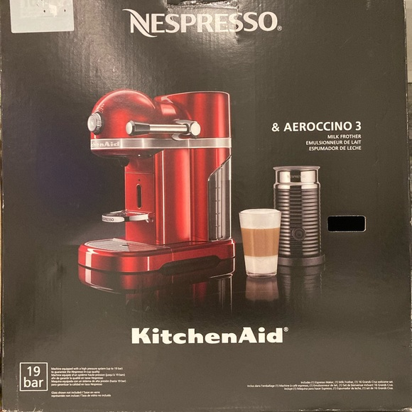 nespresso bar 19 and aeroccino 3 milk frother