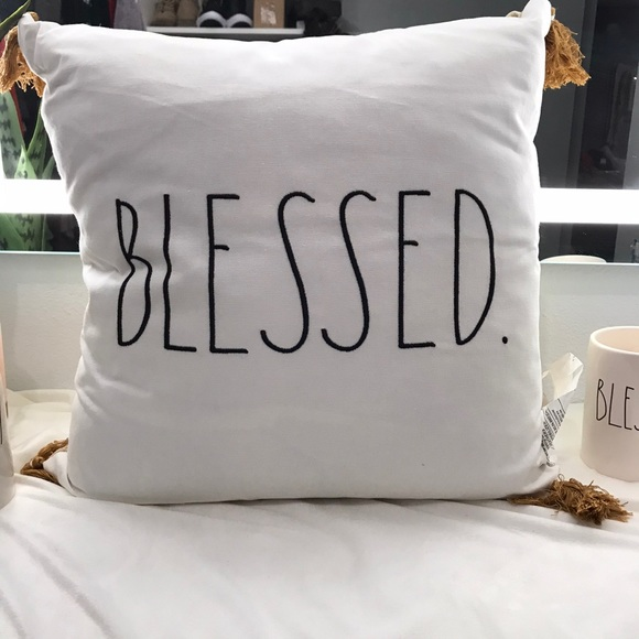 rae dunn blessed accent pillow