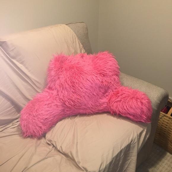 arlee hot pink faux fur backrest pillow