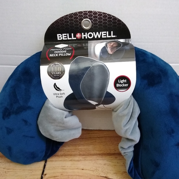 bell and howell memory form hoodie neck pillow