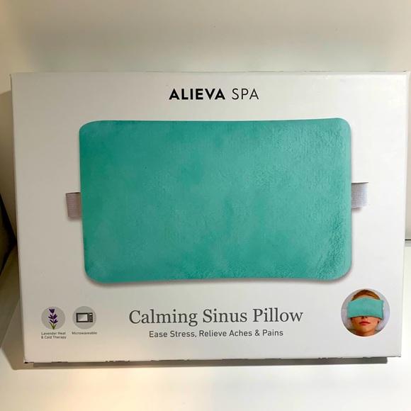 nwt alieva spa calming sinus pillow