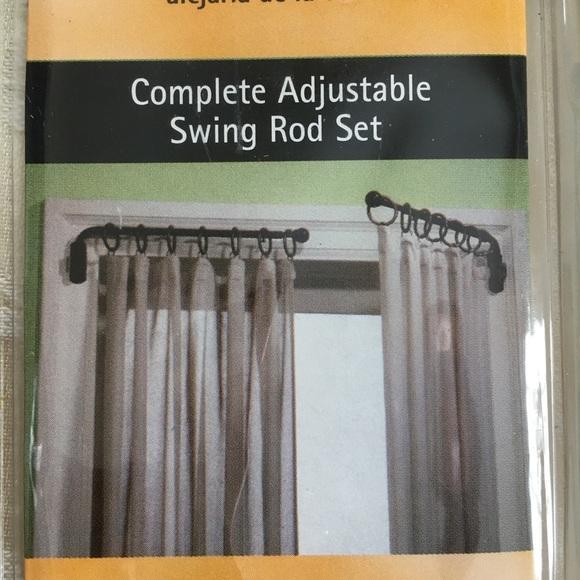 swing arm curtain rod set