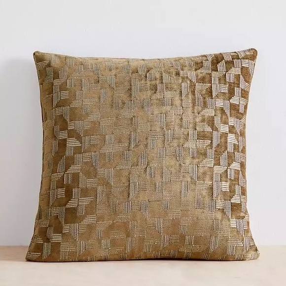west elm geo chenille pillow cover nwt