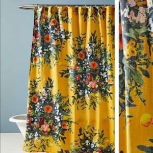 new anthropologie daisy floral shower