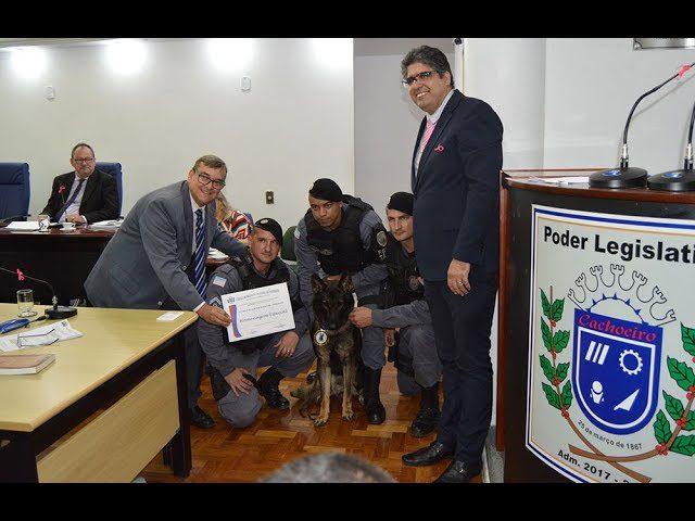 PMs e cão Messi são homenageados em Cachoeiro