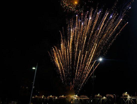 Show pirotécnico na Ponte de Ferro na virada de ano em Cachoeiro