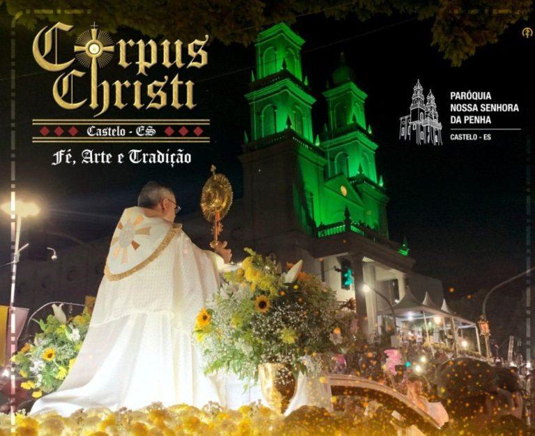 Sem tapetes, Castelo terá procissão em carreata no feriado de Corpus Christi