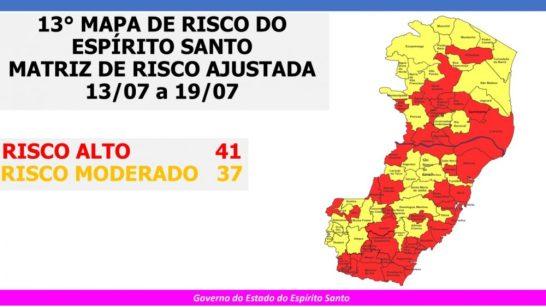 Mais cidades do Sul entram para a zona vermelha de alto risco de Covid-19