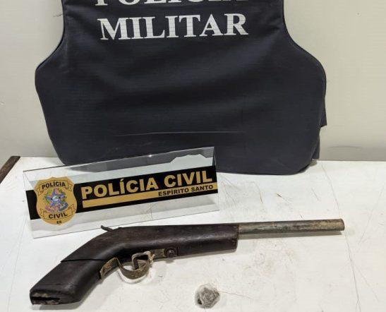 Adolescente é apreendido após efetuar disparos no centro de Guaçuí