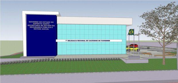 Construção da nova sede da Delegacia de Cachoeiro começa até segunda-feira
