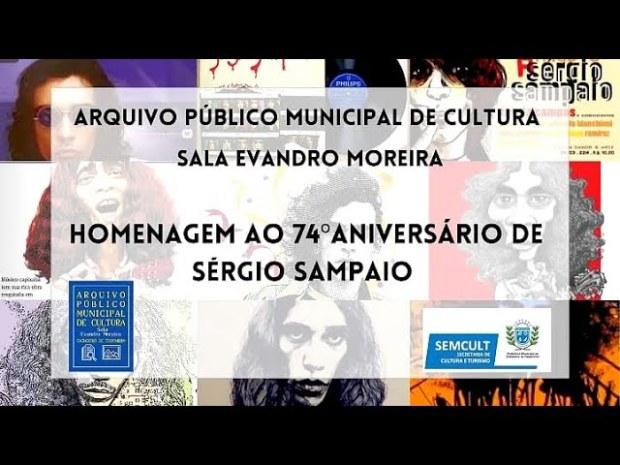 Vídeo homenageia o artista cachoeirense Sérgio Sampaio, que completaria 74 anos