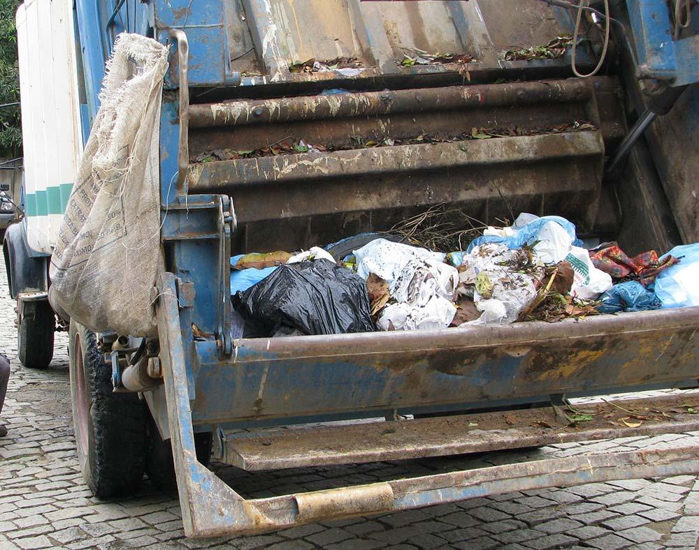 Gari é atropelado por caminhão do lixo em Alegre