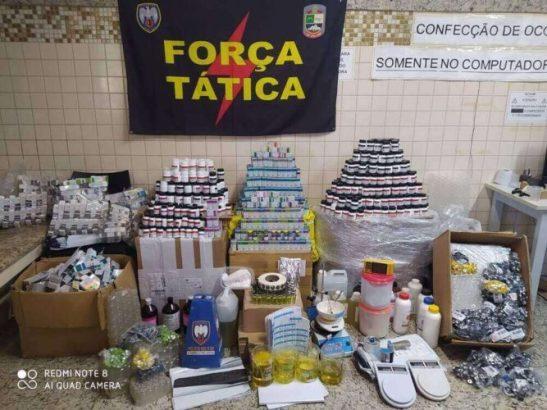 Laboratório de anabolizantes é fechado pela polícia em Piúma