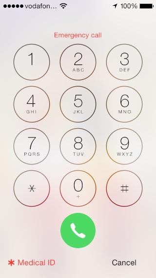 Medical ID on Apple iOS8.