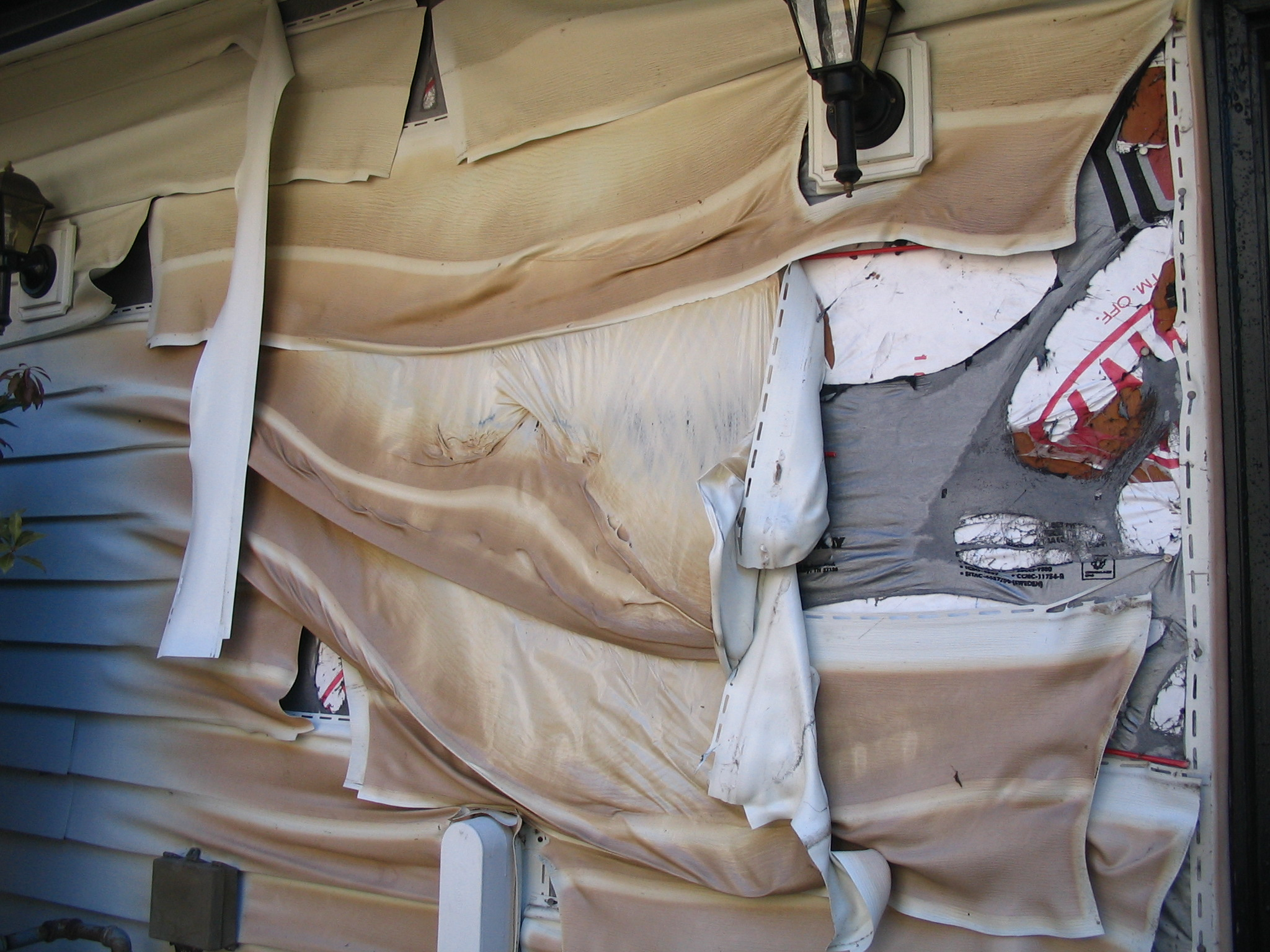 (c)2009 Em https://diabetesdietdialogue.wordpress.com 2009-6  Our Fire - damage at the main electrical panel