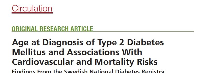 Age of onset of diabetes and CVD