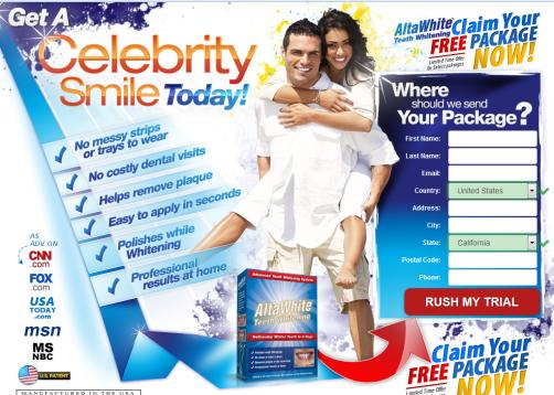 Alta White Teeth Whitening scam