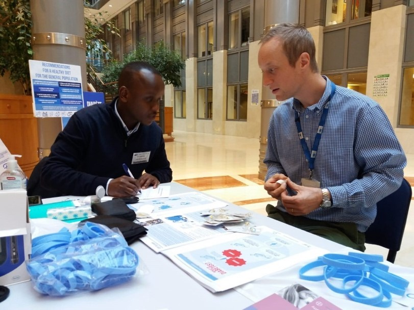 Blood glucose screening at European Parliament