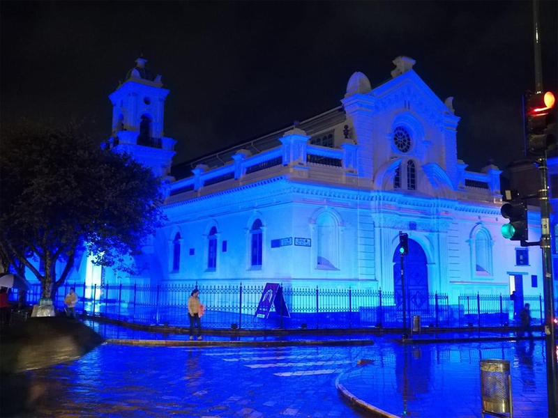 Blue lighting in Argentina