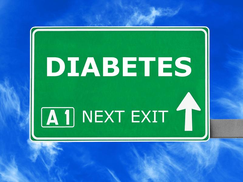 Diabetes road sign