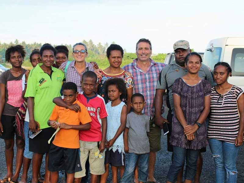 Group picture in Papua New Guinea