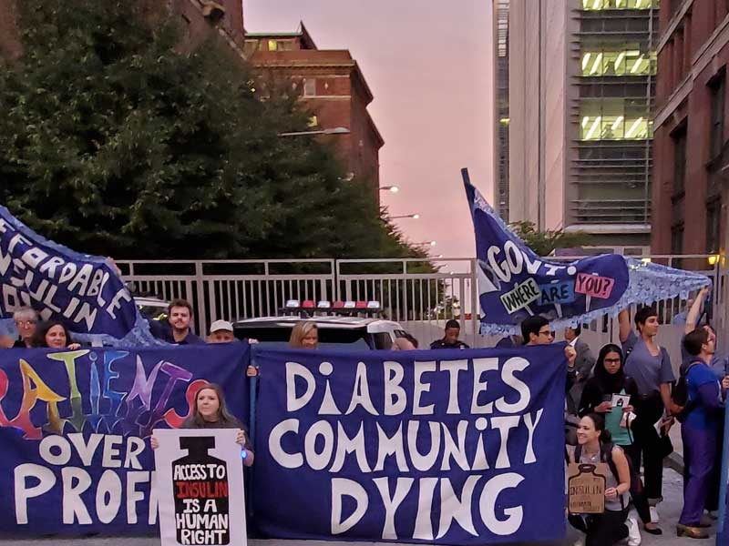 NYinsulin4all protest in front of Eli Lilly, New York City