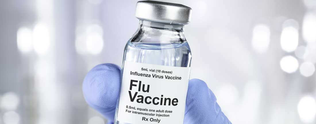 Flu vaccine vial
