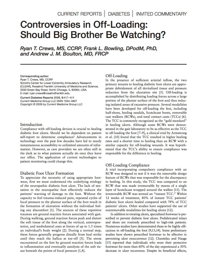Controversies in off-loading Should big brother be watching - Crews 2009