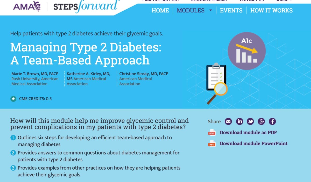 Six Steps to Managing Type 2 Diabetes: from the @AmerMedicalAssn