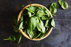 Fresh Spinach for this Sauteed Spinach and Garlic