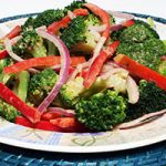 Broccoli Salad with Peanut Dressing
