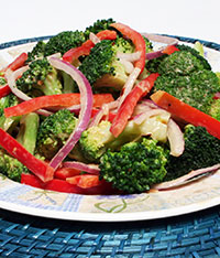 Broccoli Salad with Peanut Dressing Recipe Photo - Diabetic Gourmet Magazine Recipes