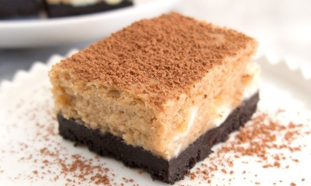 Mocha Cheesecake Bars Recipe Photo - Diabetic Gourmet Magazine Recipes