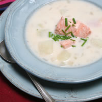 Salmon Chowder Beats the Chill